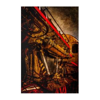 ヴィンテージの蒸気の列車-宇宙船の祖父 アクリルウォールアート
