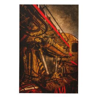 ヴィンテージの蒸気の列車-宇宙船の祖父 ウッドウォールアート