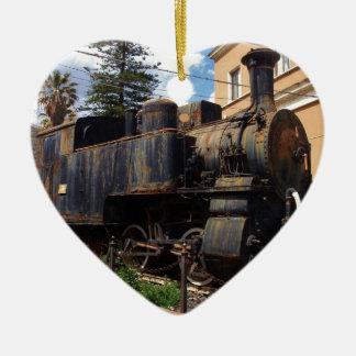 ヴィンテージの蒸気機関車 セラミックオーナメント