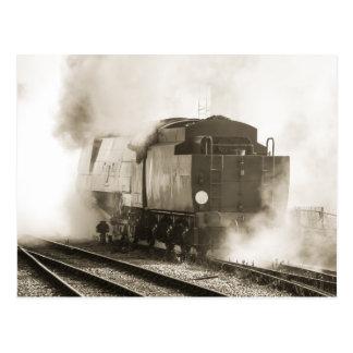 ヴィンテージの蒸気機関車 ポストカード