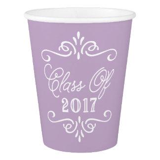 ヴィンテージの薄紫|の卒業 紙コップ
