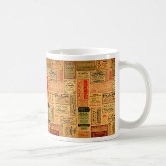 ヴィンテージの薬剤師のラベル、薬、Steampunk コーヒーマグカップ