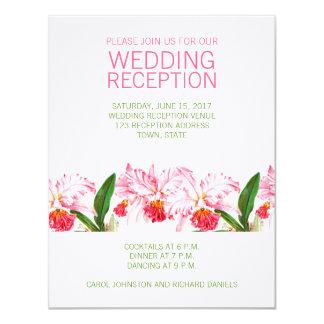 ヴィンテージの蘭の結婚披露宴%PIPE%のピンクの緑 カード