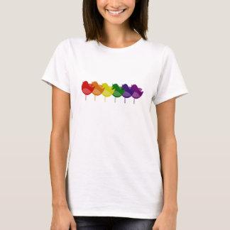 ヴィンテージの虹の鳥 Tシャツ