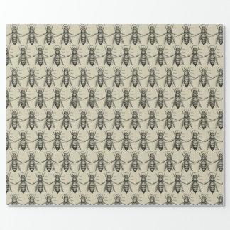 ヴィンテージの蜂のイラストレーションパターン包装紙 ラッピングペーパー