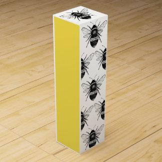 ヴィンテージの蜂のワイン箱 ワインギフトボックス