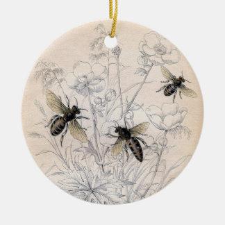 ヴィンテージの蜂蜜の蜂の芸術のプリント セラミックオーナメント