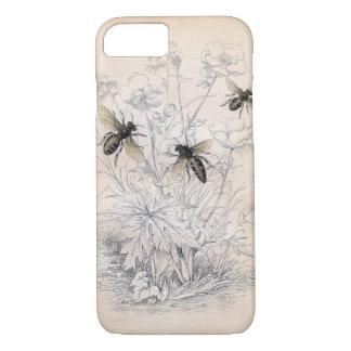 ヴィンテージの蜂蜜の蜂の芸術 iPhone 8/7ケース