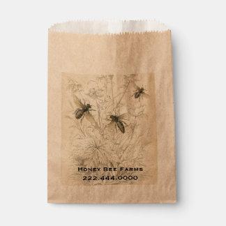 ヴィンテージの蜂蜜の蜂ビジネス食糧バッグ フェイバーバッグ