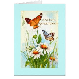 ヴィンテージの蝶イースター挨拶状 カード