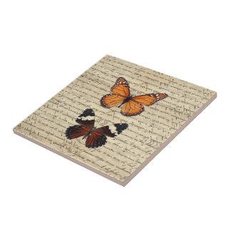 ヴィンテージの蝶コレクション タイル
