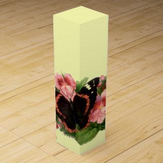 ヴィンテージの蝶及びスイートピーの花のギフトのワイン箱 ワインギフトボックス