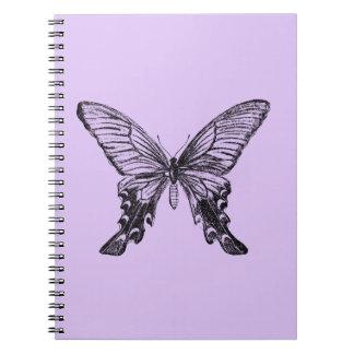 ヴィンテージの蝶絵 ノートブック