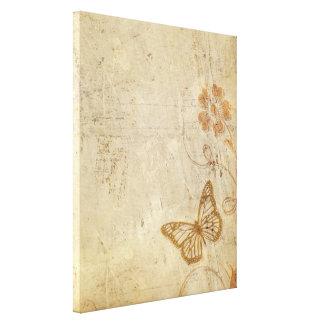 ヴィンテージの蝶 キャンバスプリント
