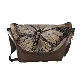ヴィンテージの蝶 クーリエバッグ