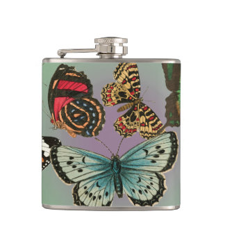 ヴィンテージの蝶 フラスク