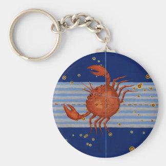 ヴィンテージの蟹座の星図 キーホルダー