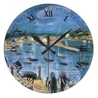 ヴィンテージの表現主義、ウォルターGramatte著Hidensee ラージ壁時計