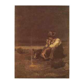 ヴィンテージの西部のカウボーイ、NC Wyethによる平野の牧夫 ウッドウォールアート