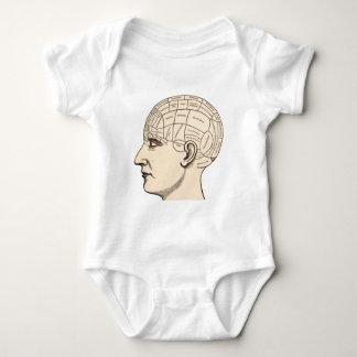ヴィンテージの解剖学の頭脳の地図のイメージ ベビーボディスーツ