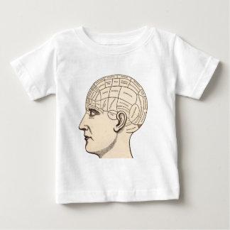 ヴィンテージの解剖学の頭脳の地図のイメージ ベビーTシャツ
