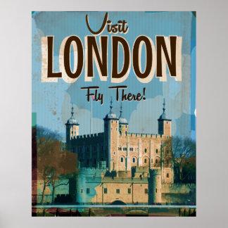 ヴィンテージの訪問ロンドン-そこのはえ ポスター