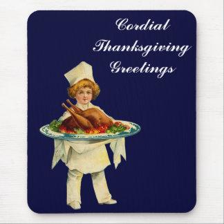 ヴィンテージの誠心誠意の感謝祭の挨拶 マウスパッド