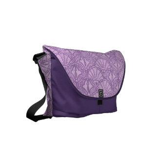 ヴィンテージの貝殻のラベンダーの紫色 メッセンジャーバッグ
