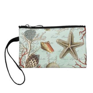 ヴィンテージの貝殻の…硬貨の財布 コインパース