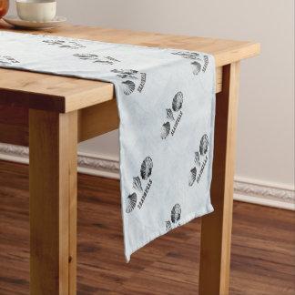 ヴィンテージの貝殻 ショートテーブルランナー