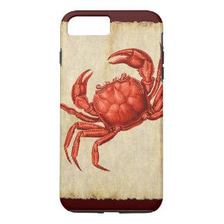 ヴィンテージの赤いカニのデザイン iPhone 8 PLUS/7 PLUSケース
