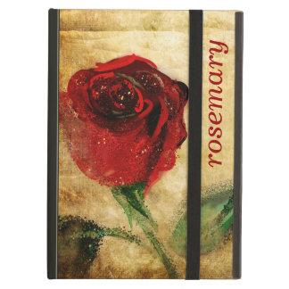 ヴィンテージの赤いバラのグランジなiPadの場合 iPad Airケース
