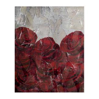 ヴィンテージの赤いバラ油のPalleteの質 アクリルウォールアート