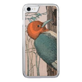 ヴィンテージの赤いヘッドキツツキの木 CARVED iPhone 8/7 ケース
