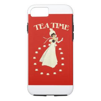 ヴィンテージの赤い茶時間 iPhone 8/7ケース