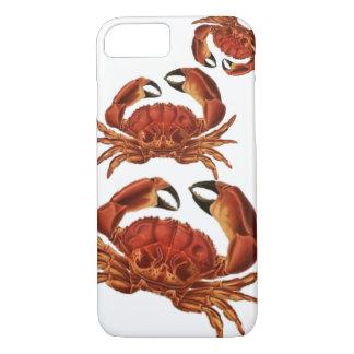 ヴィンテージの赤によってはCrustacean貝のPinchersが斜め飛行します iPhone 8/7ケース