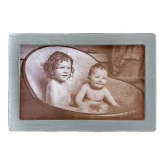 ヴィンテージの赤ん坊のBathの時間 長方形ベルトバックル