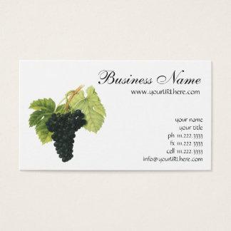 ヴィンテージの赤ワインのオーガニックなブドウの集り、食糧フルーツ 名刺