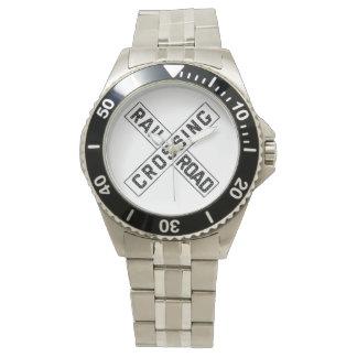 ヴィンテージの踏切の印の腕時計 腕時計