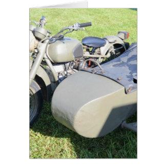 ヴィンテージの軍のオートバイの組合せ カード