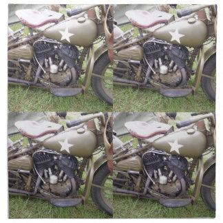 ヴィンテージの軍隊のオートバイ ナプキンクロス