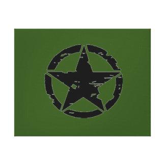 ヴィンテージの軍隊の星の写真 キャンバスプリント
