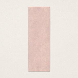 ヴィンテージの軽いローズピンクの硫酸紙のテンプレート スキニー名刺