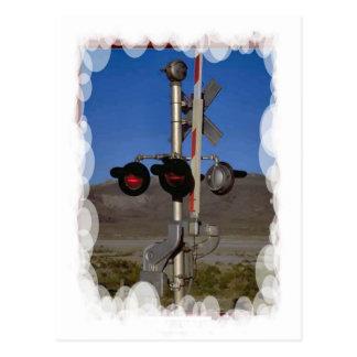 ヴィンテージの輸送-信号および障壁 ポストカード