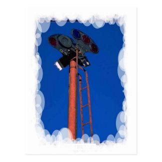 ヴィンテージの輸送-信号のマスト ポストカード