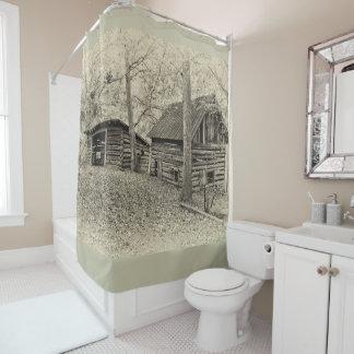 ヴィンテージの農場のシャワー・カーテン シャワーカーテン