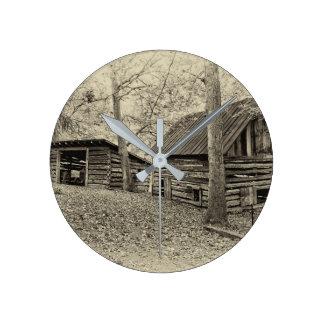 ヴィンテージの農場の柱時計 ラウンド壁時計