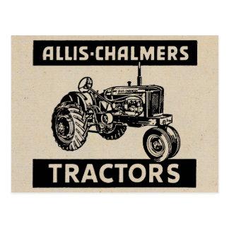 ヴィンテージの農場トラクター ポストカード