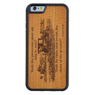 ヴィンテージの農家のアイザイア28のiphone木箱 CarvedチェリーiPhone 6バンパーケース