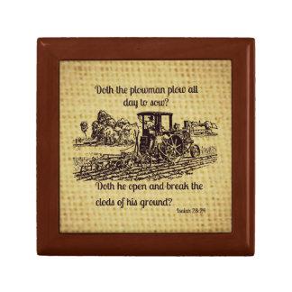 ヴィンテージの農家木製箱の聖書の詩 ギフトボックス